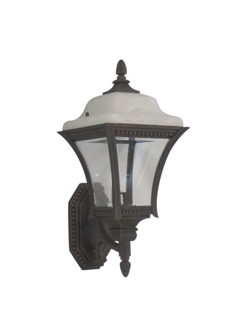 Adjustapost Lighting APX-C41SC-RU One Light Exterior Outdoor Wall Lantern in Rust Finish