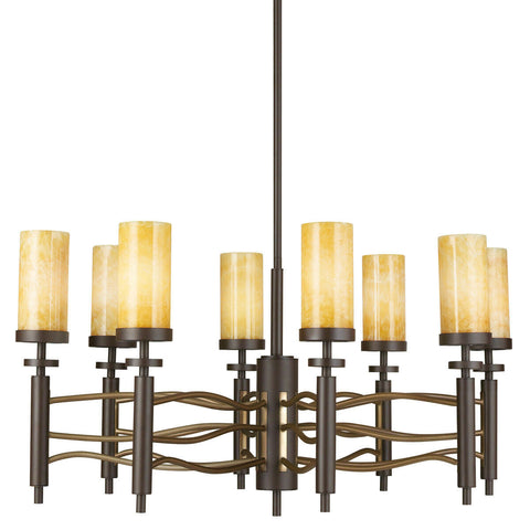 Kichler Lighting 42187OZ Eight Light Millry Collection Hanging Chandelier in Olde Bronze Finish