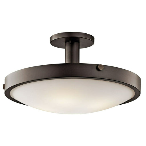 Kichler Lighting 42246 OZ Lytham Collection Four Light Semi Flush Ceiling Fixture in Olde Bronze Finish