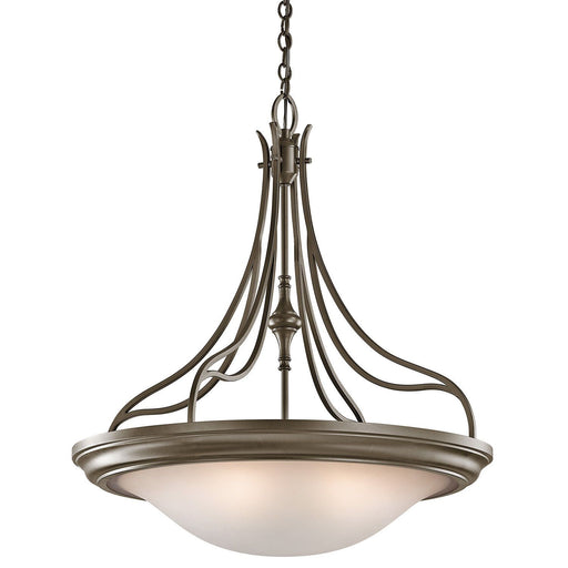 Aztec 34983 by Kichler Lighting Wayland Collection Four Light Pendant Chandelier in Shadow Bronze Finish