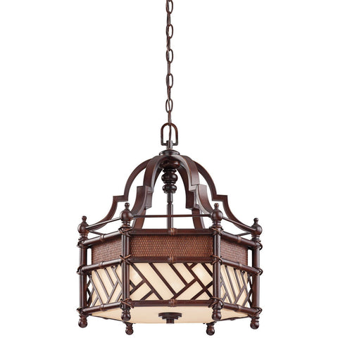 Kichler Lighting 43248 CYZ Rum Cove Collection Three Light Hanging Pendant Chandelier in Cayman Bronze Finish - Quality Discount Lighting