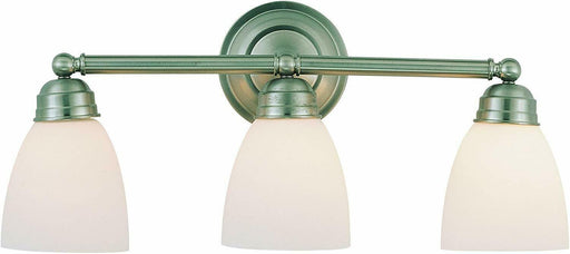 Trans Globe Lighting 43357BN-LED Three Light Bath Vanity Wall Mount in Brushed Nickel Finish