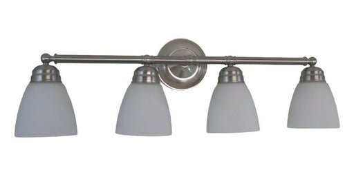 Trans Globe Lighting PL-43358-BN-LED Ardmore Collection Four Light Bath Vanity Wall Mount in Brushed Nickel Finish