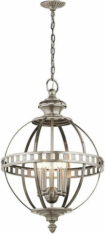 Kichler 43613CLP Halleron Collection Five Light Hanging Pendant Chandelier in Pewter Finish