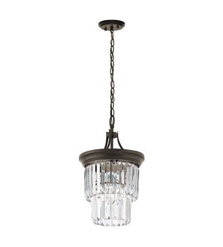 Kichler Lighting 43748 OZ Emile Collection One Light Convertible Semi Flush or Mini Pendant in Old Bronze Finish