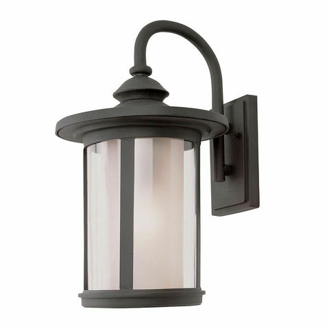 Trans Globe Lighting PL-440040BK-LED One Light GU24 LED Outdoor Wall Mount Lantern in Black Finish