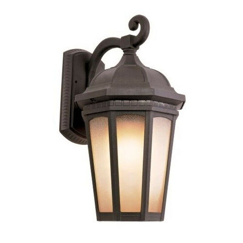 Trans Globe Lighting PL-440151RT-LED One Light Outdoor Wall Mount Lantern in Bronze Rust Finish
