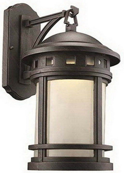 Trans Globe Lighting PL-440371RT-LED One Light Outdoor Wall Mount Lantern in Bronze Rust Finish