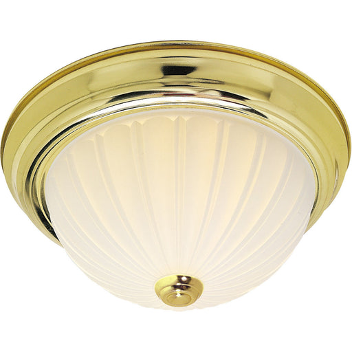 Nuvo Lighting 60-440 Signature Collection Two Light Energy Star Efficient GU24 Flush Ceiling Mount in Polished Brass Finish