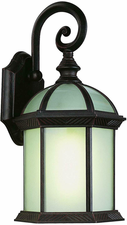 Trans Globe Lighting PL-44181BLK-LED One Light GU24 Outdoor Wall Mount Lantern in Black Finish