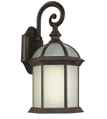 Trans Globe Lighting PL-44181RT-LED One Light GU24 LED Outdoor Wall Mount Lantern in Rust Finish