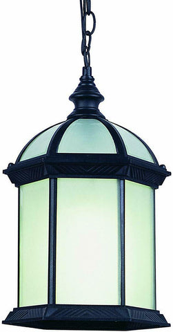 Trans Globe Lighting PL-44183BK-LED WENTWORTH II Collection One Light Outdoor Hanging Lantern in Black Finish