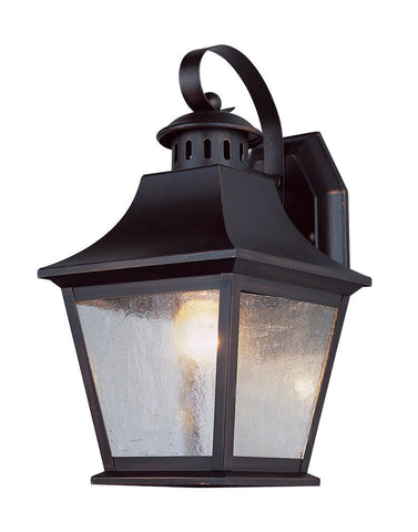 Trans Globe Lighting PL-44871ROB LED Ridgecrest Collection One Light Outdoor Wall Mount Lantern in Rubbed Oil Bronze Finish