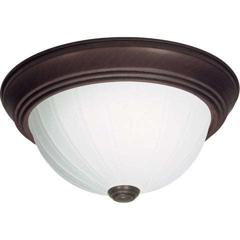 Nuvo Lighting 60-449 Signature Collection One Light Energy Star Efficient GU24 Flush Ceiling Mount in Old Bronze Finish
