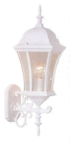 Rainbow ADJ APX-C44SC-WH One Light Exterior Outdoor Wall Lantern in White Finish
