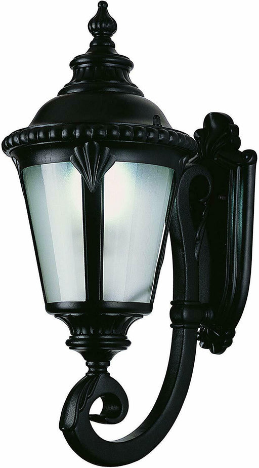Trans Globe Lighting PL-45040BK-LED Stonebridge Italian Estate Collection One Light LED Outdoor Wall Mount Lantern in Black Finish
