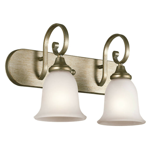 Kichler Lighting 45054 SGD Monroe Collection Two Light Bath Wall Vanity Fixture in Sterling Gold Finish