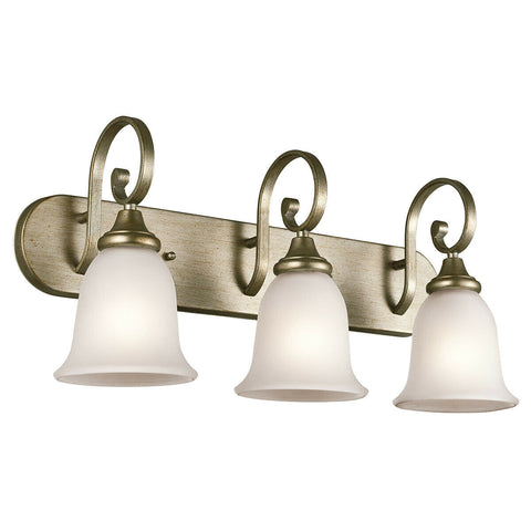 Kichler Lighting 45055 SGD Monroe Collection Three Light Bath Wall Vanity Fixture in Sterling Gold Finish