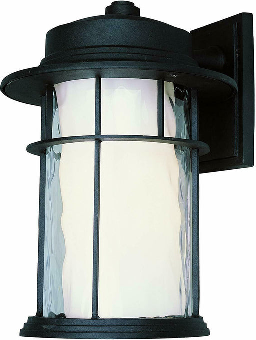 Trans Globe Lighting PL-45292BK-LED One Light GU24 LED Outdoor Wall Mount Lantern in Black Finish
