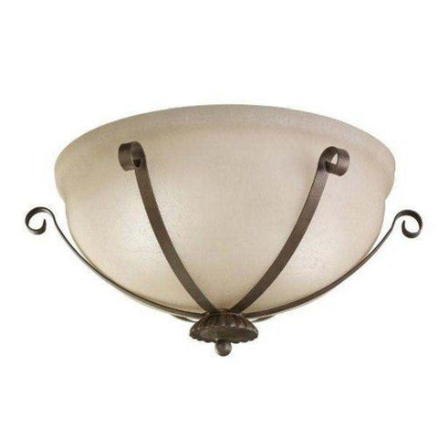 Kichler Lighting 4556 LZ Two Light Flush Indoor or Outdoor Ceiling Mount in Legacy Bronze Finish - Quality Discount Lighting