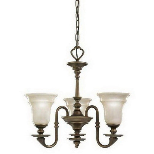 Kichler Lighting 4563 OB Arezzo Collection Three Light Hanging Chandelier in Oiled Bronze Finish - Quality Discount Lighting