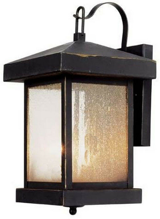 Trans Globe Lighting LED-45641 WB Santa Cruz Collection Integrated LED Wall Lantern in Weathered Bronze Finish