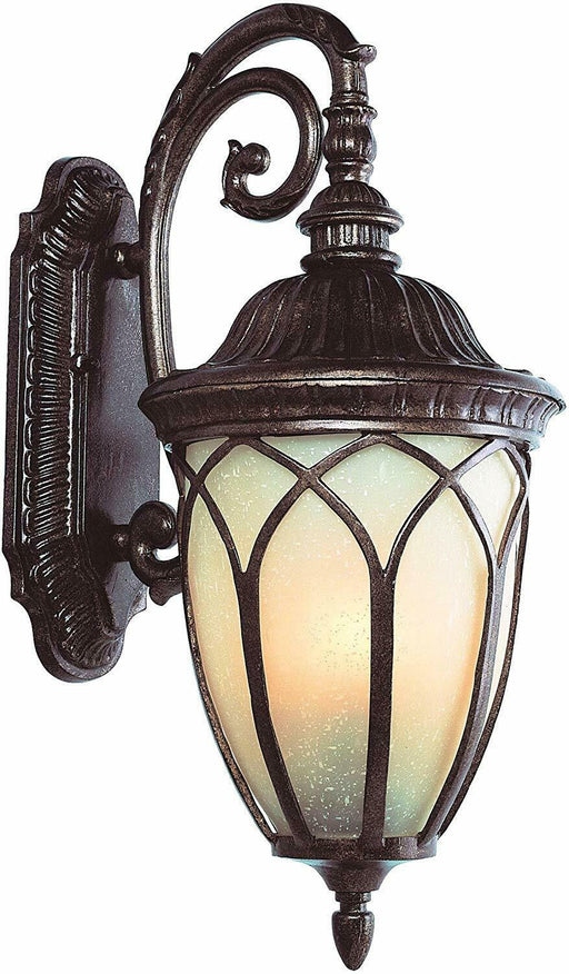 Trans Globe Lighting PL-45711BR-LED One Light Outdoor Wall Mount Lantern in Brown Finish