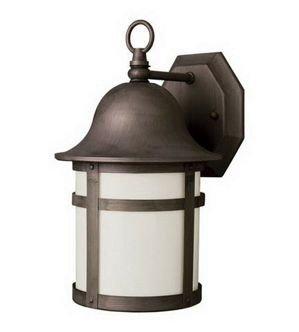 Trans Globe Lighting PL-44581WB-LED One Light Exterior Outdoor Wall Mount Lantern in Weathered Bronze Finish