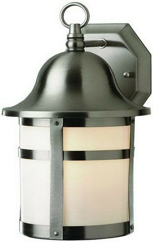 Trans Globe Lighting PL-44581BN-LED One Light Exterior Outdoor Wall Mount Lantern in Brushed Nickel Finish