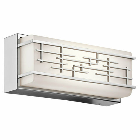 Kichler Lighting 45828CHLED Zolon Collection LED Bath Vanity Wall Mount in Polished Chrome Finish