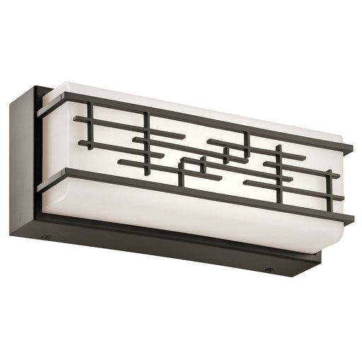 Kichler Lighting 25828OZLED  Zolon Collection 2 Light LED Bath Vanity Wall Mount in Olde Bronze Finish