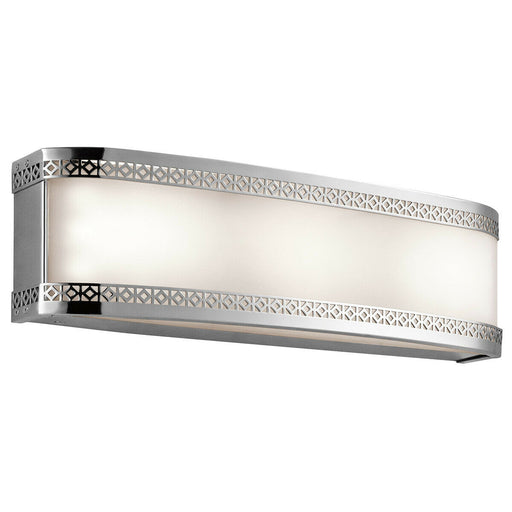 Kichler Lighting 45852CHLED Contessa Collection 3 Light LED Bath Vanity Wall Mount in Polished Chrome Finish