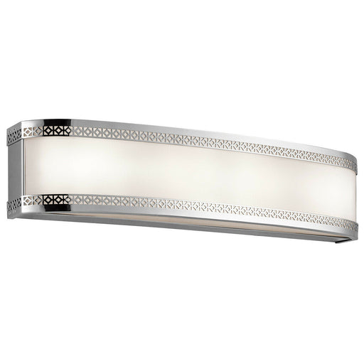 Kichler Lighting 45853CHLED Contessa Collection 4 Light LED Bath Vanity Wall Mount in Polished Chrome Finish