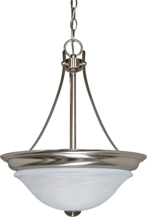 Nuvo Lighting 60-465 Triumph Collection Two Light Energy Star Efficient GU24 Hanging Pendant Chandelier  in Brushed Nickel Finish