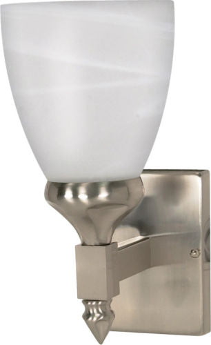 Nuvo Lighting 60-466 Triumph Collection One Light Energy Star Efficient GU24 Wall Sconce in Brushed Nickel Finish