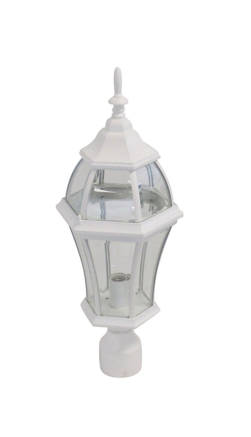 Adjustapost APX-C46TC-WH One Light Exterior Outdoor Post Lantern in White Finish