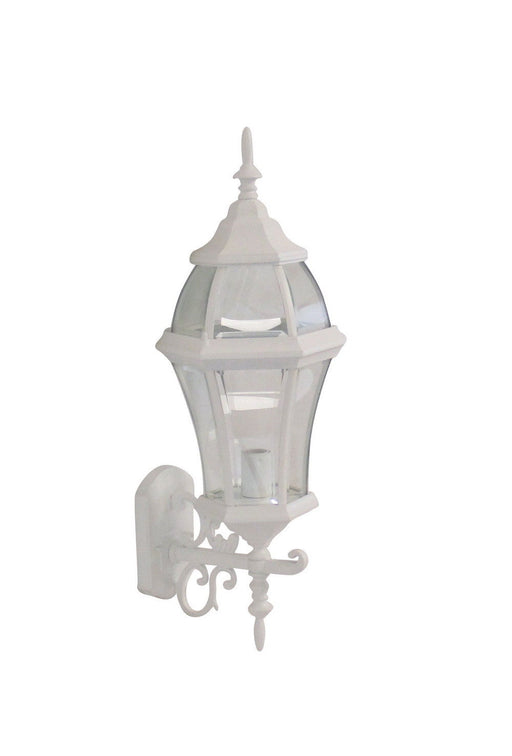 Adjustapost APX-C46SC-WH One Light Exterior Outdoor Wall Lantern in White Finish