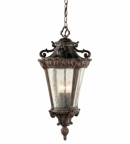 Trans Globe Lighting 4843PA Heritage Collection Four Light Outdoor Hanging Lantern in Patina Finish