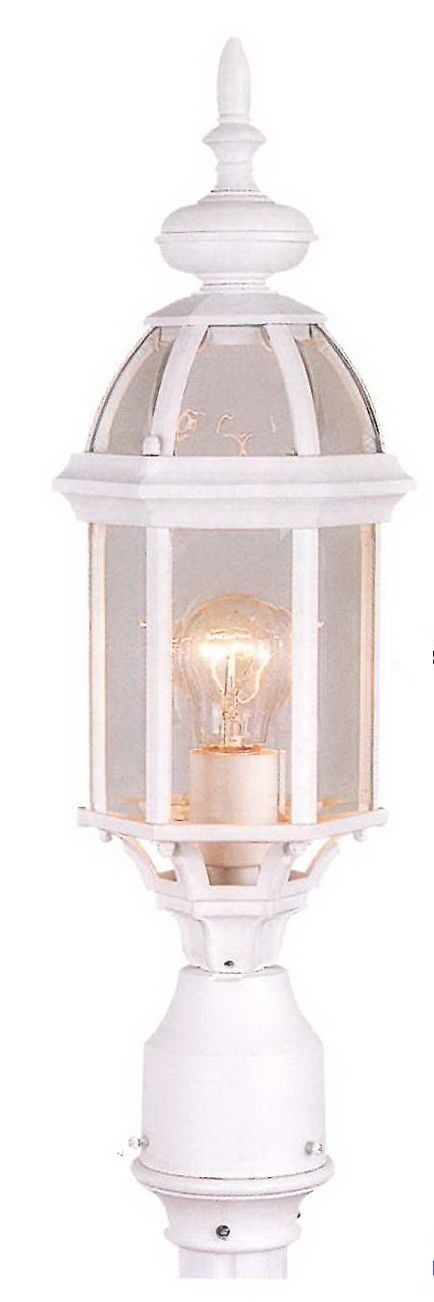 Rainbow ADJ APX-C48TC-WH One Light Exterior Outdoor Post Lantern in White Finish