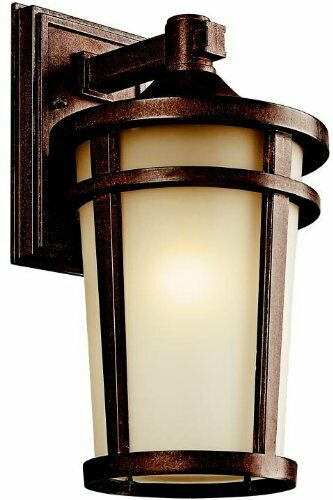 Kichler Lighting 49072BSTFT-LED Atwood Collection One Light Energy Saving Exterior Outdoor Wall Lantern in Brownstone Finish
