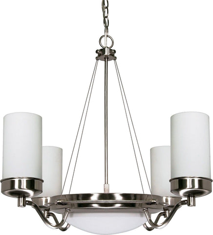 Nuvo Lighting 60-490 Polaris Collection Seven Light Energy Star Efficient GU24 Hanging Chandelier in Brushed Nickel Finish