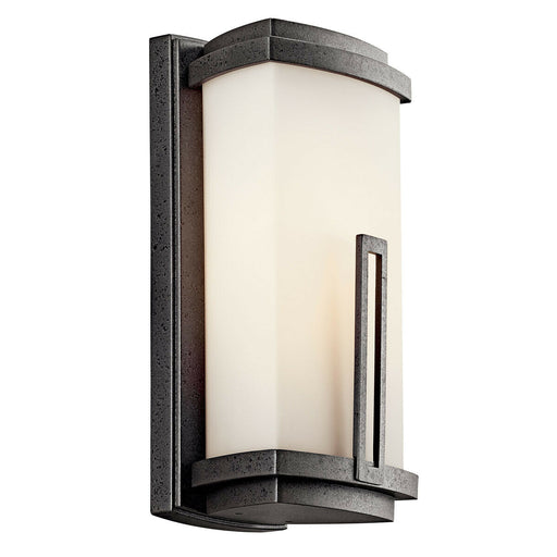 Kichler Lighting 49110AVIFL-LED Leeds Collection One Light LED Exterior Outdoor Wall Lantern in Anvil Iron Finish