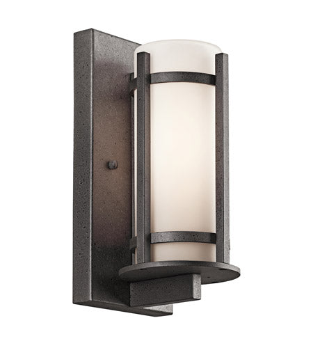 Kichler Lighting 49119AVIFL-LED Camden Collection One Light LED Energy Saving Exterior Outdoor Wall Lantern in Anvil Iron Finish