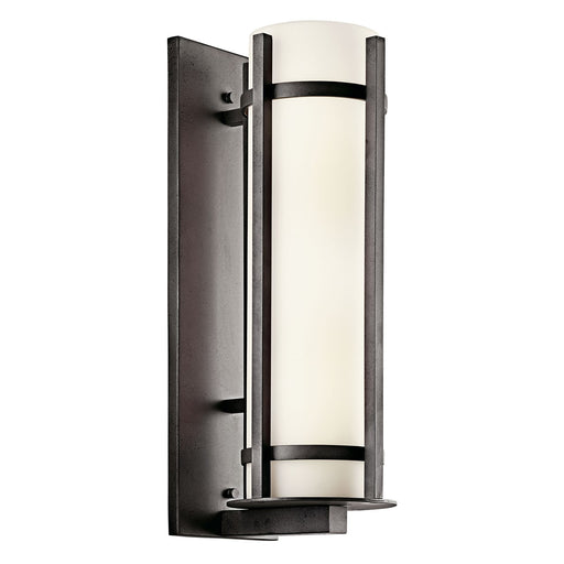 Kichler Lighting 49121AVIFL-LED Camden Collection Two Light LED Energy Saving Exterior Outdoor Wall Lantern in Anvil Iron Finish