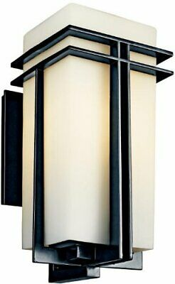 Kichler Lighting 49203BKFL-LED Tremillo Collection One Light LED Exterior Outdoor Wall Lantern in Black Finish