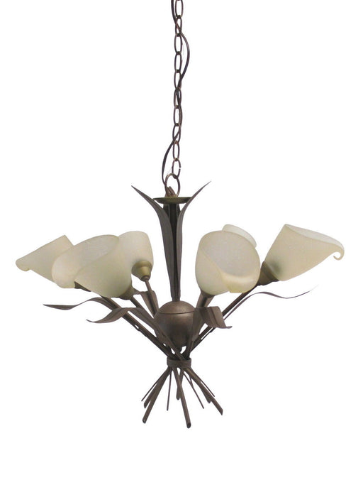 Adjustapost Lighting LPX-LGD49206 Brunito Collection Six Light Chancelier in Bronze Finish
