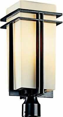 Kichler Lighting 49207BKFL-LED Tremillo Collection One Light LED Exterior Outdoor Post Lantern in Black Finish