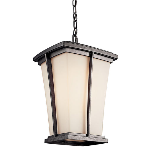 Kichler Lighting 49219 Brockton Collection One Light Energy Saving Exterior Outdoor Hanging Lantern in Anvil Iron Finish