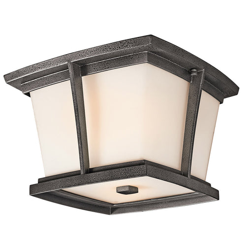 Kichler Lighting 49220 AVIFL Brockton Collection Two Light Energy Saving Exterior Outdoor Ceiling Mount in Anvil Iron Finish