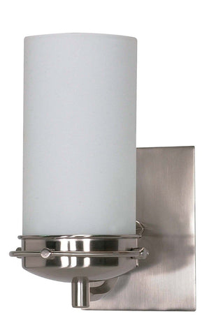 Nuvo Lighting 60-494 Polaris Collection One Light Energy Star Efficient GU24 Wall Sconce in Brushed Nickel Finish